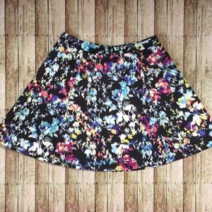 Lily Rose Watercolor Skater Skirt